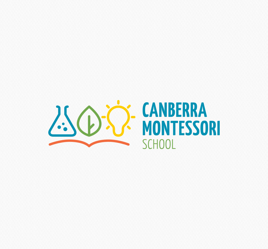 Canberra Montessori School logo and branding, designed by 372 Digital