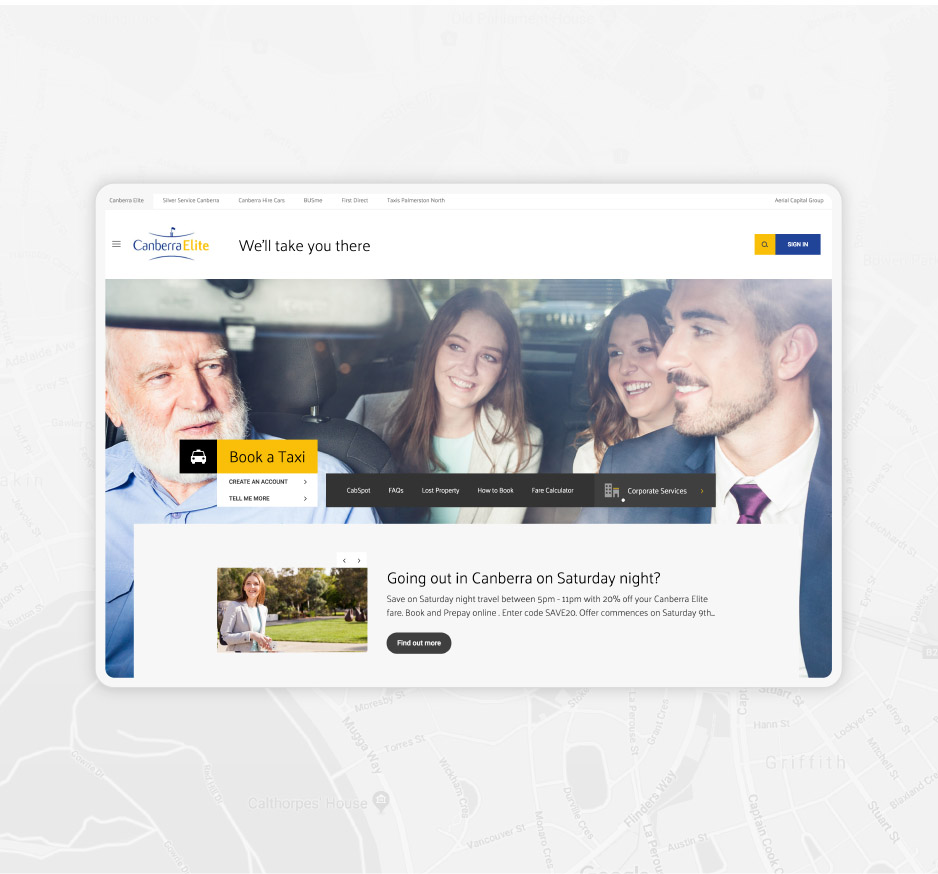 Canberra Elite, website design, developed by 372 Digital