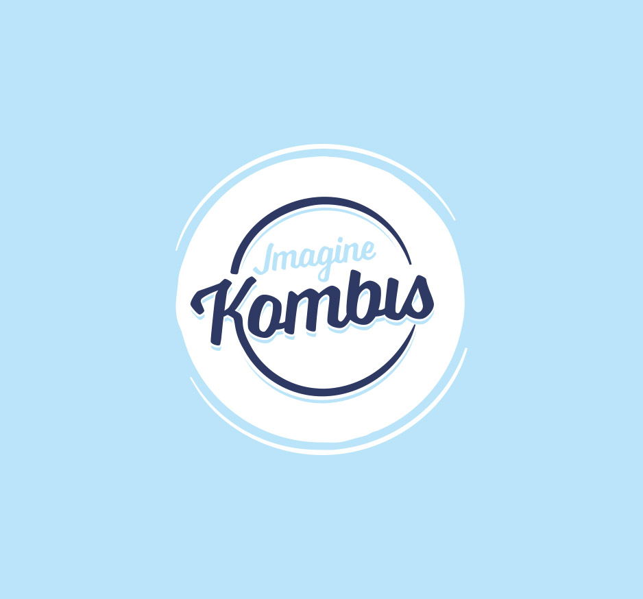 Imagine kombis logo on a blue background