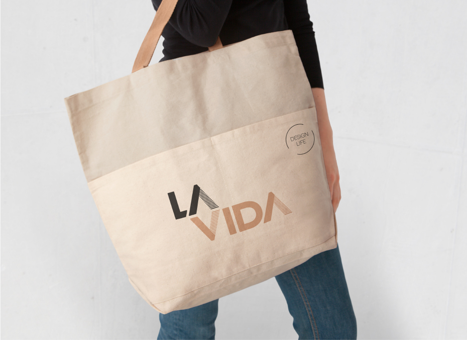La Vida Designs, tote bag design, by 372 Digital